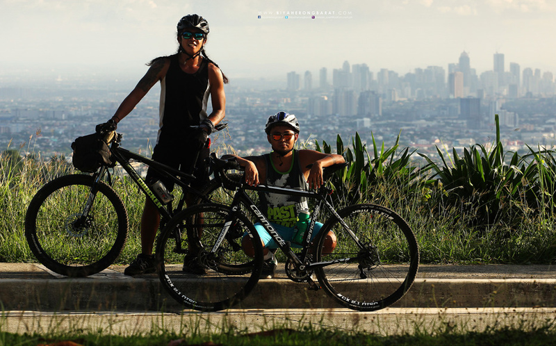 View from the top of The Wall in Timberland Heights, one of the toughest road climbs near Manila