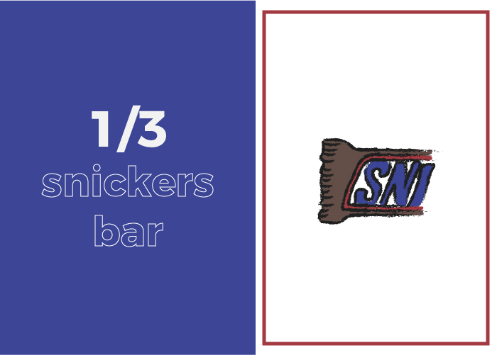 Your daily sugar intake looks like 1/3 of a Snickers bar