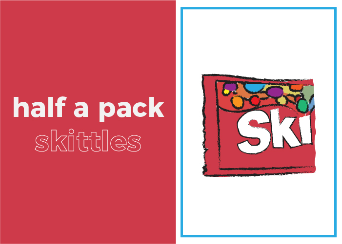 Your daily sugar intake is half a pack of Skittles