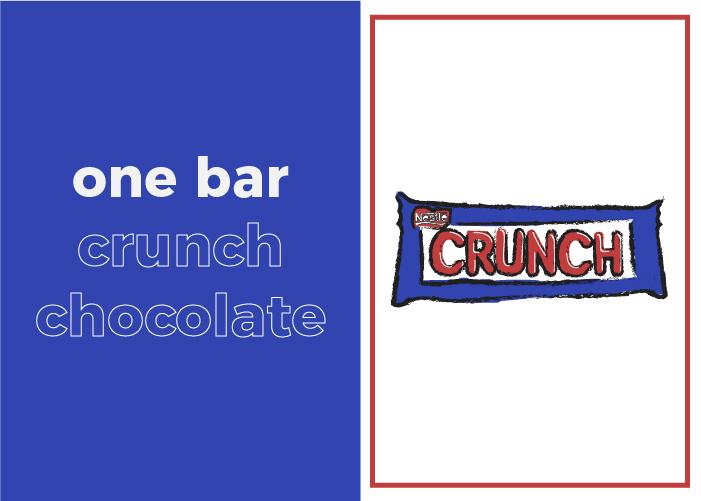 Your daily sugar intake looks like a bar of Crunch chocolate