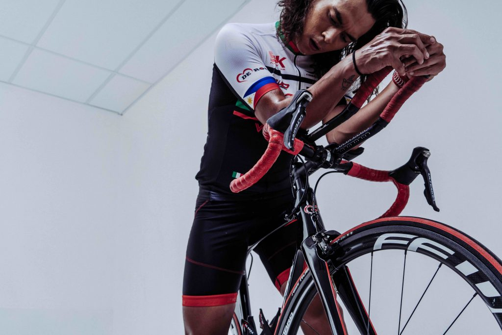 Being a triathlete isn't really just for show in Jake Cuenca's case