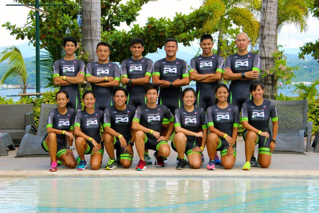 Herbalife Triathlon Team in which Laarni Paredes is part of