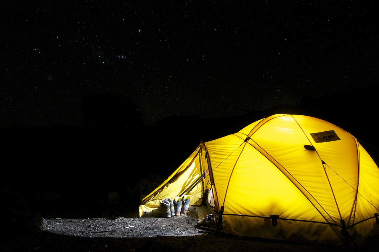For your first camping shelter, find something that's durable and waterproof
