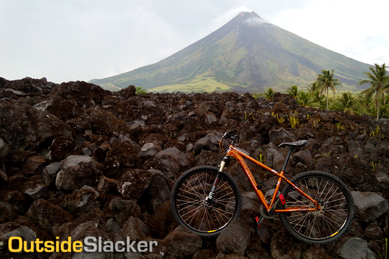 Mt. Mayon's volcanic terrain leads up to a lava wall