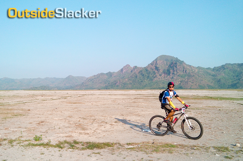 The challenges of Mt. Pinatubo for bikers are the scorching heat and desert-like landscape