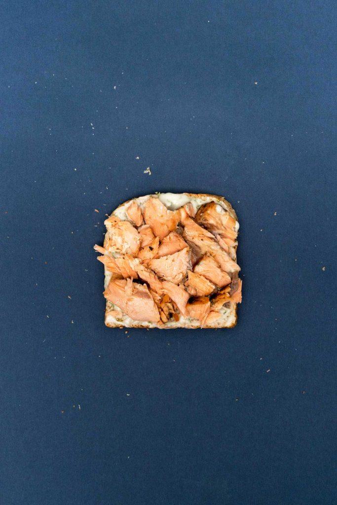 Salmon herb toast