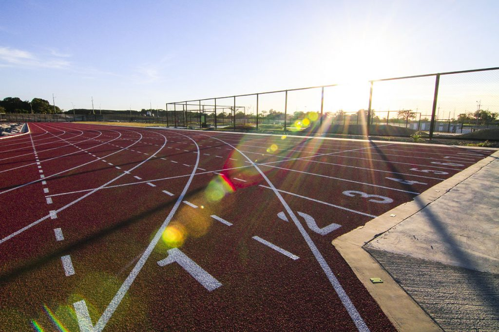 Vermosa Sports Hub's track oval was built in accordance with the International Association of Athletics Federations standards