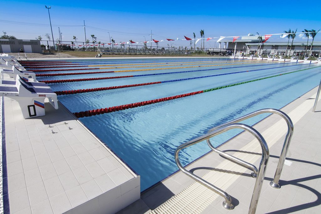 Vermosa Sports Hub has its very own 10-lane, Olympic-size lap pool complete with Anti Wave Starting Blocks