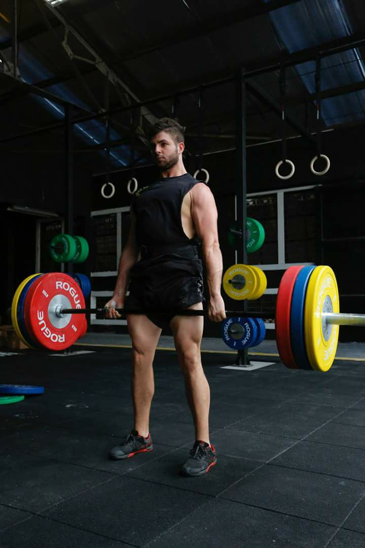 Deadlift movement starts when you pull the barbell from the floor up to your mid thighs