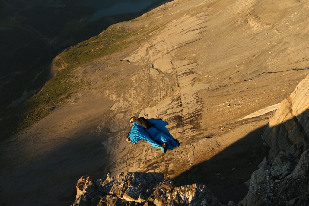 Base jumping is probably the most dangerous sports today