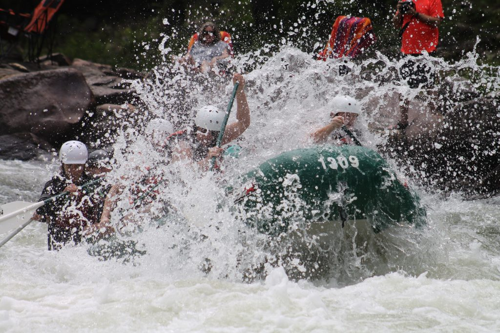 First on our list of dangerous sports is whitewater rafting,