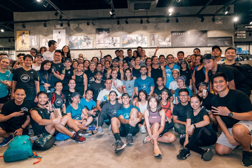 All the participants at the Adidas PureBoost Go City Chase Challenge