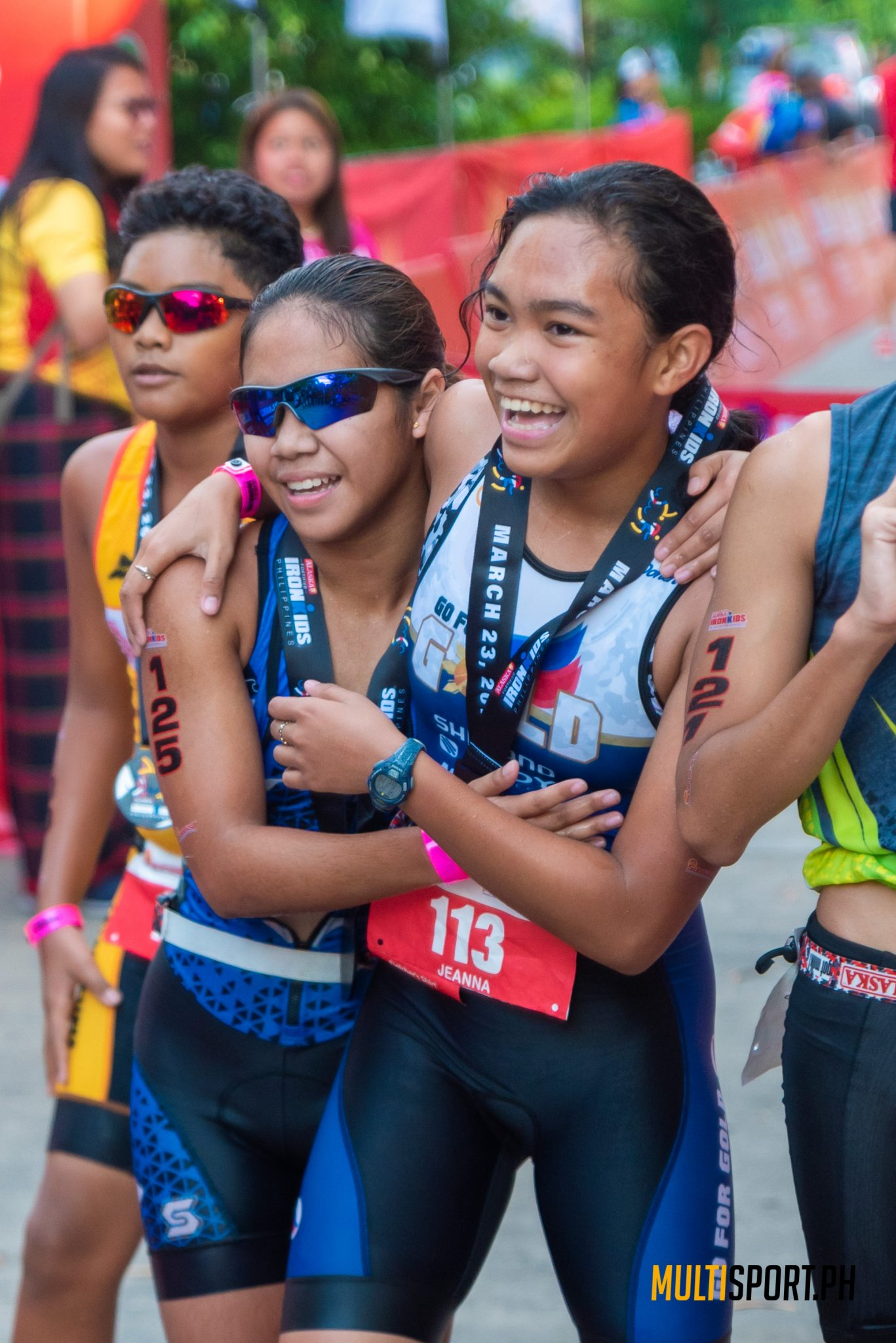The atmosphere at this year's IronKids race was far more serene compared with previous editions