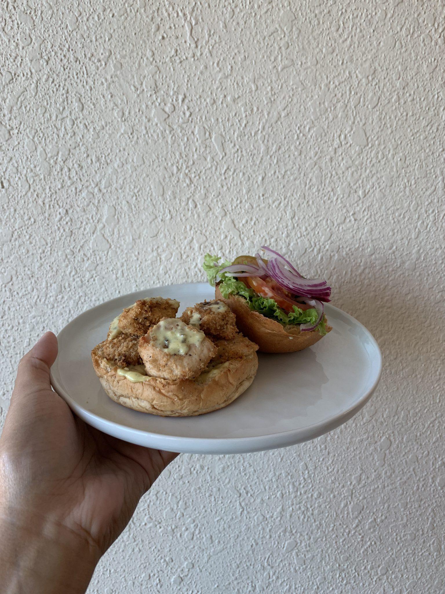 Pickle Healthy Delivery's Cajun chicken sandwich