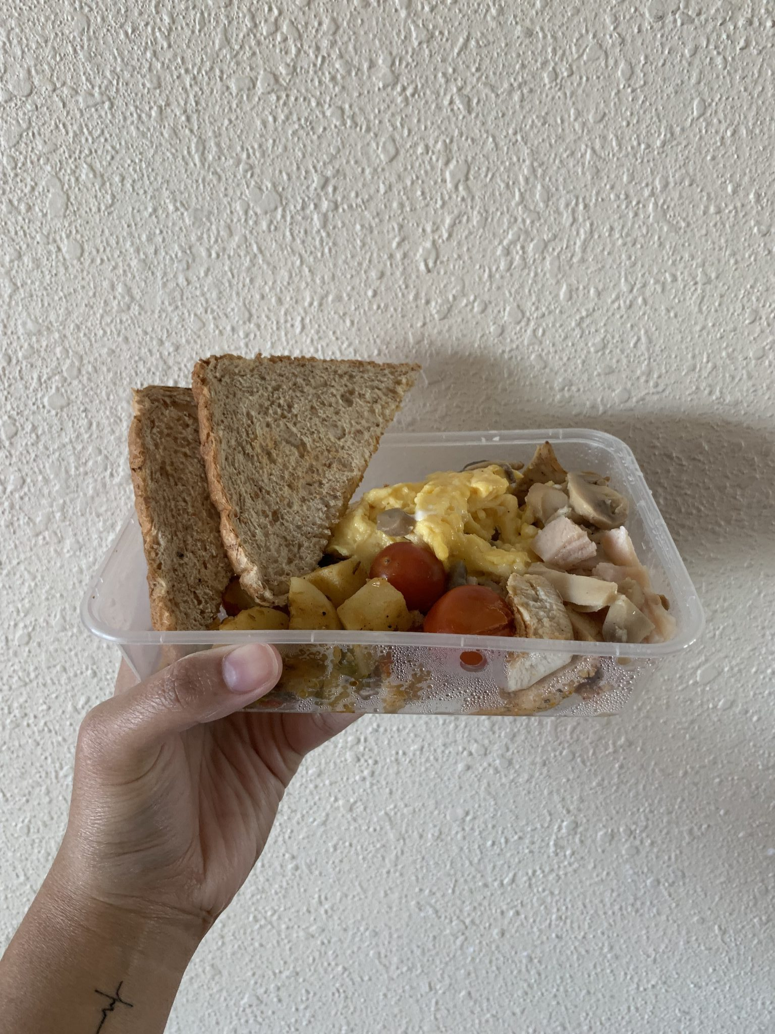 Pickle Healthy Delivery's shicken omelette with toast