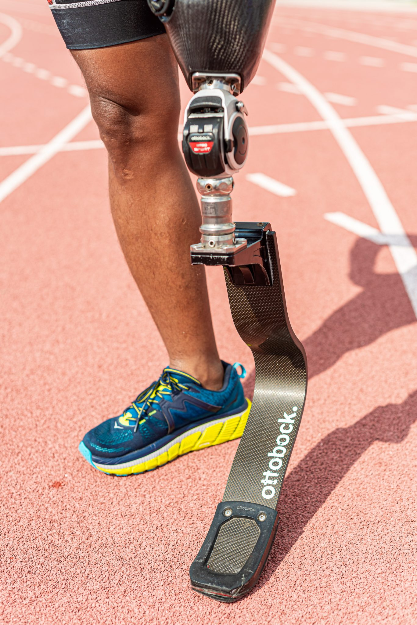 It took Manny Lobrigo a long time to get used to running with a running blade