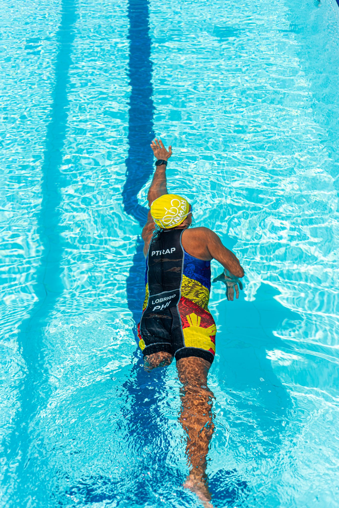 Swimming was his primary sport before he transitioned to triathlon