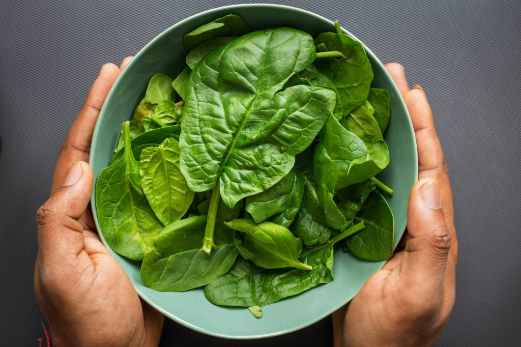 Not only is it rich in protein, folic acid, iron, and vitamin C, spinach is also very low in calories, which makes it a good addition to your plant-based diet