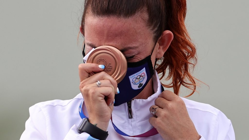 """The 33-year-old San Marino shooter said that """"I don't want to be one more time in fourth place"""" as she nailed her final performance"""