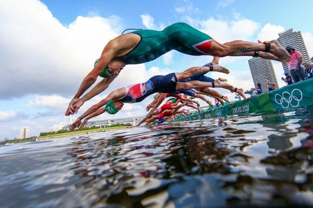 The chaotic start to the race didn't dampen Blummenfelt's historic win in Tokyo