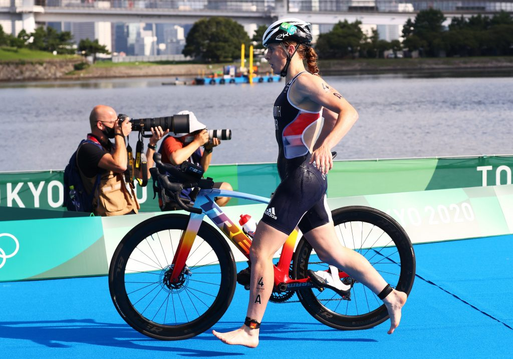 The race format features teams of two men and two women, who each complete a short-course race of 300 meters swim, 6.8-kilometer bike, and two kilometer run and makes for fast-paced action