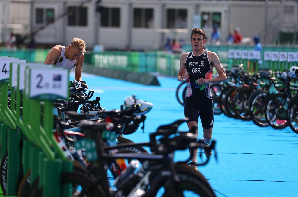 Jonny Brownlee of Britain in action