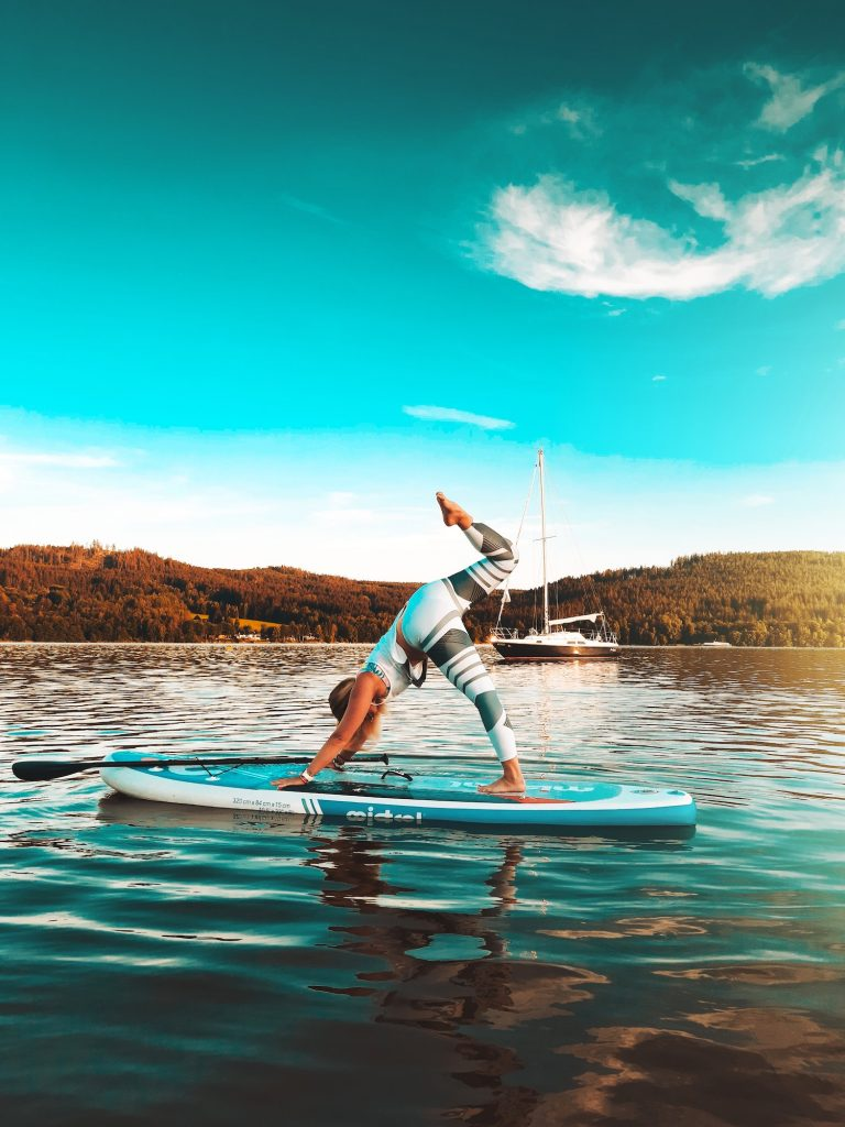 Talk about taking it to the next level: Stand-up paddleboards are also sometimes used for activities like fishing and yoga