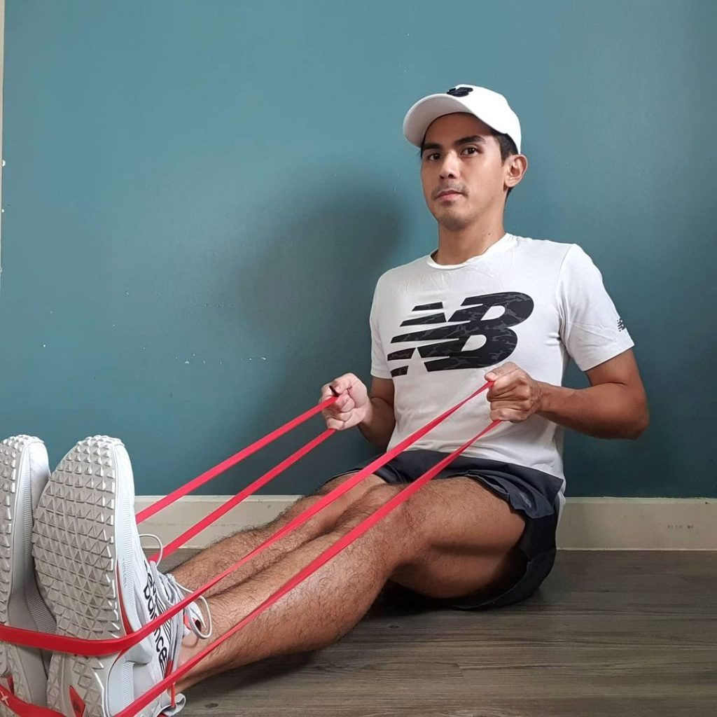 If you can find time to dedicate yourself to social media, you could also find time to train using simple tools like resistance bands