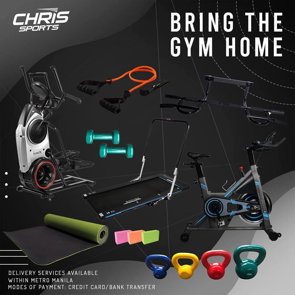 At Chris Sports, you don't just have the option to bring home a stationary bike—you can bring home the entire gym