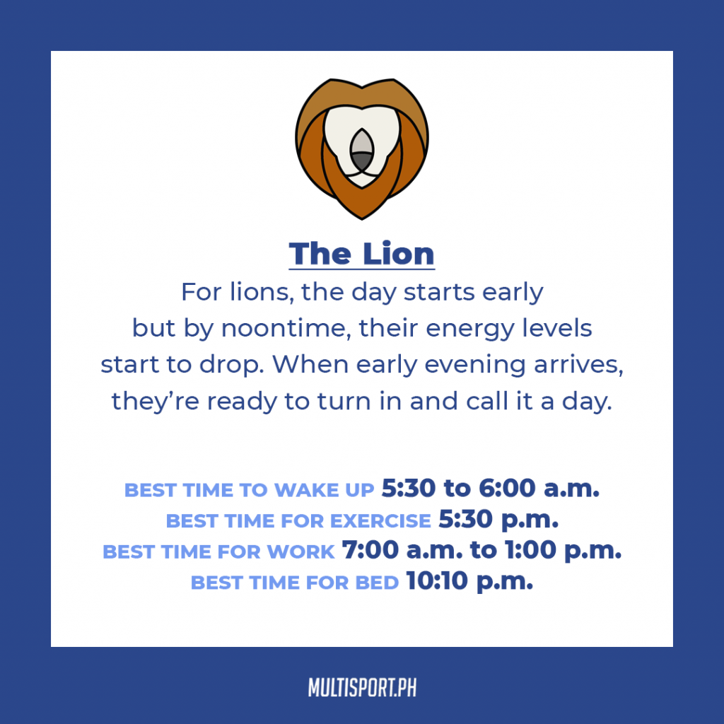 Is your sleep chronotype a lion?