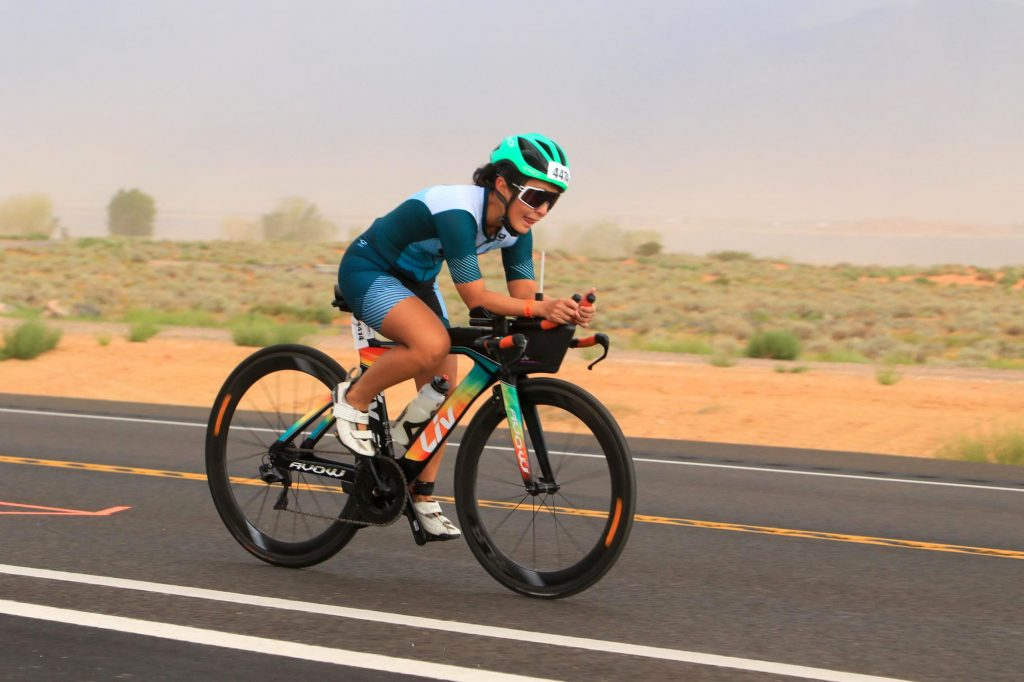 Lou (pictured here) and son Josh Ramos qualified for the World Championship after racing at Ironman 70.3 Lubbock
