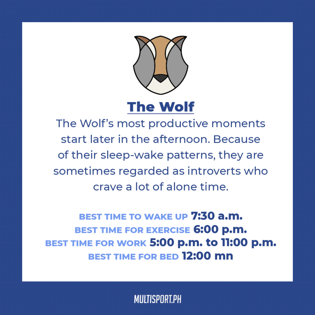 Are you a wolf when it comes to sleeping?