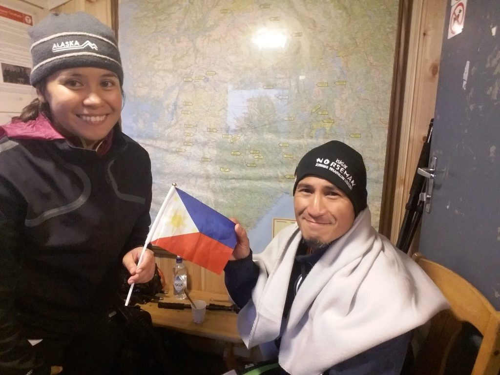 Omar Paredes with wife Laarni who a year later became the first Filipino to finish Norseman Xtreme